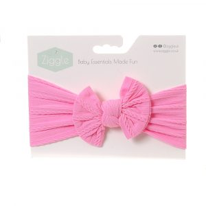 Ziggle Bright Pink Top Bow Headband