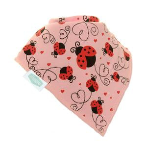 Ziggle Single Bib - Pink Ladybirds