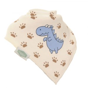 Ziggle Single Bib - Blue Dino