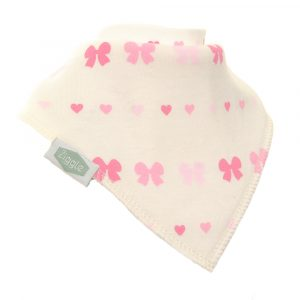 Ziggle Single Bib - Hearts & Bows