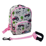 Playzeez Toodler Backpack W/ Rein | Pink Tractor
