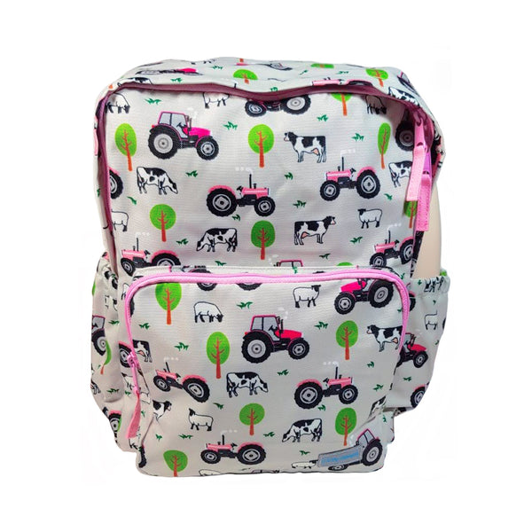 Playzeez Kids Pink Tractor School Bag