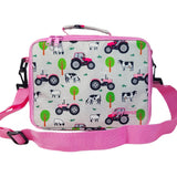 Playzeez Lunch Bag | Pink Tractor