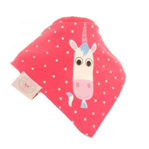 Ziggle Single Bib - Eunice Unicorn Pink