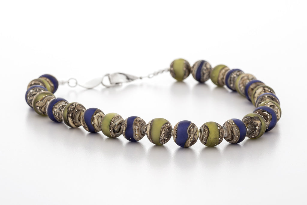 Necklace - Kingston Limestone Blue Green
