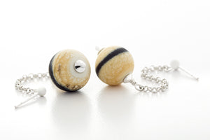 Earrings - Ebony And Ivory