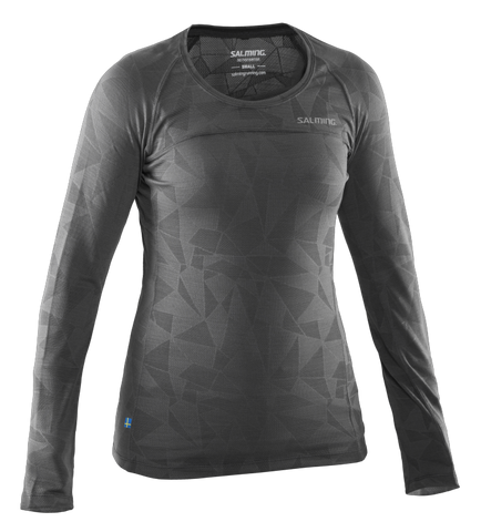 Run LS Top Women- Dark Grey Melange - Titan Plus