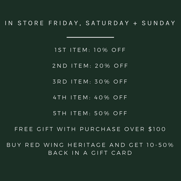 in store sale details