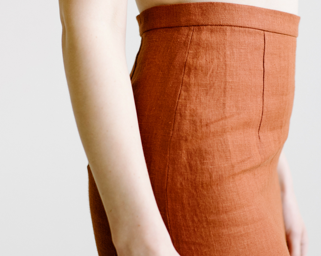 Plante Clothing Rosemary Skirt. Sustainable fashion made in the USA. Hazel & Rose