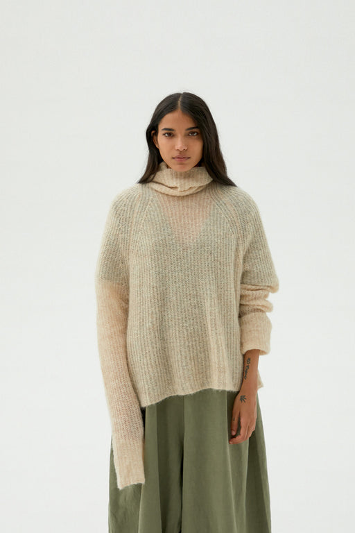 Mónica Cordera | Soft Alpaca Turtleneck Sweater | Beige | Hazel & Rose