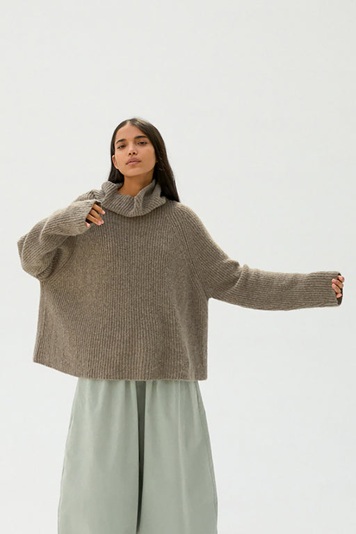 Mónica Cordera |  Baby Yak Turtleneck Sweater | Taupe | Hazel & Rose | Minneapolis
