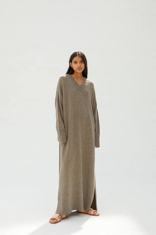 MÓNICA CORDERA | Baby Yak Knit Dress | Taupe | Hazel & Rose | Minneapolis