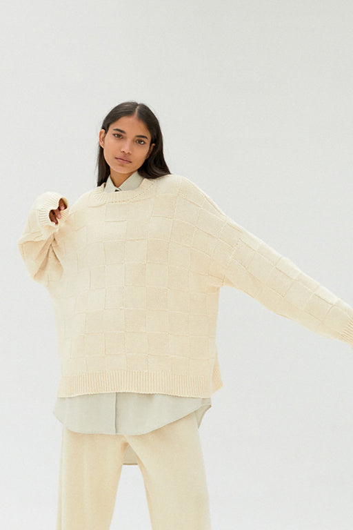 Mónica Cordera |  Cotton Sweater | Natural | Hazel & Rose | Minneapolis