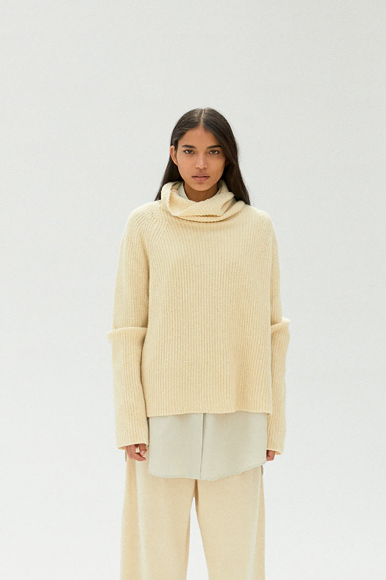 Mónica Cordera |  Baby Yak Turtleneck Sweater | Natural | Hazel & Rose | Minneapolis