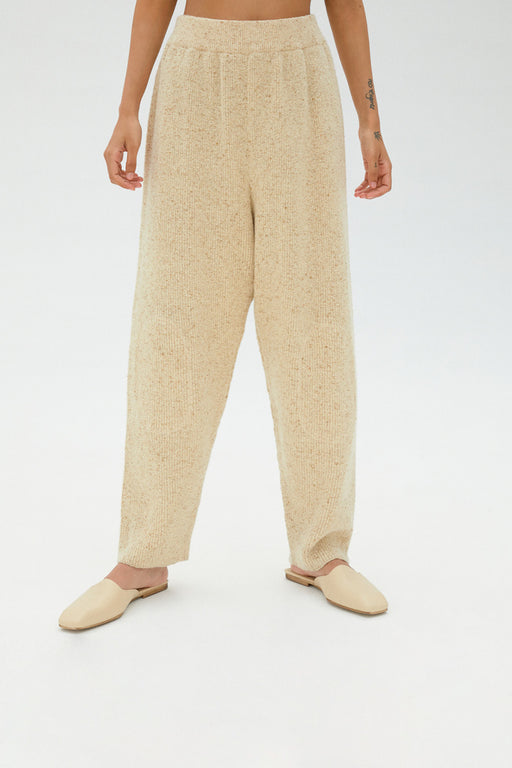 Mónica Cordera | Chunky Soft Wool Knit Pant | Natural | Hazel & Rose
