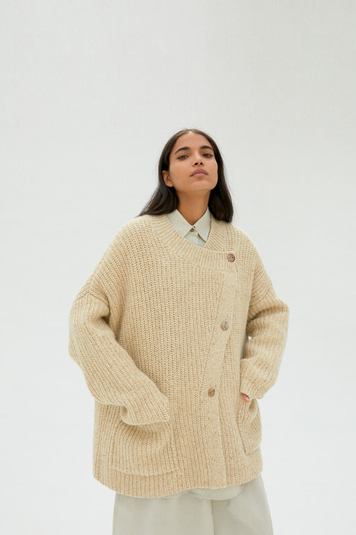 Mónica Cordera | Chunky Soft Wool Cardigan | Natural | Hazel & Rose
