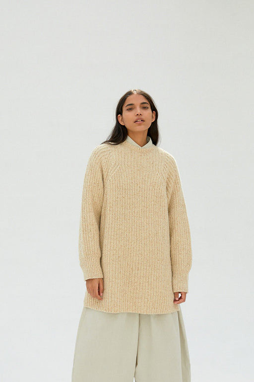 Mónica Cordera | Chunky Soft Wool Sweater | Natural | Hazel & Rose
