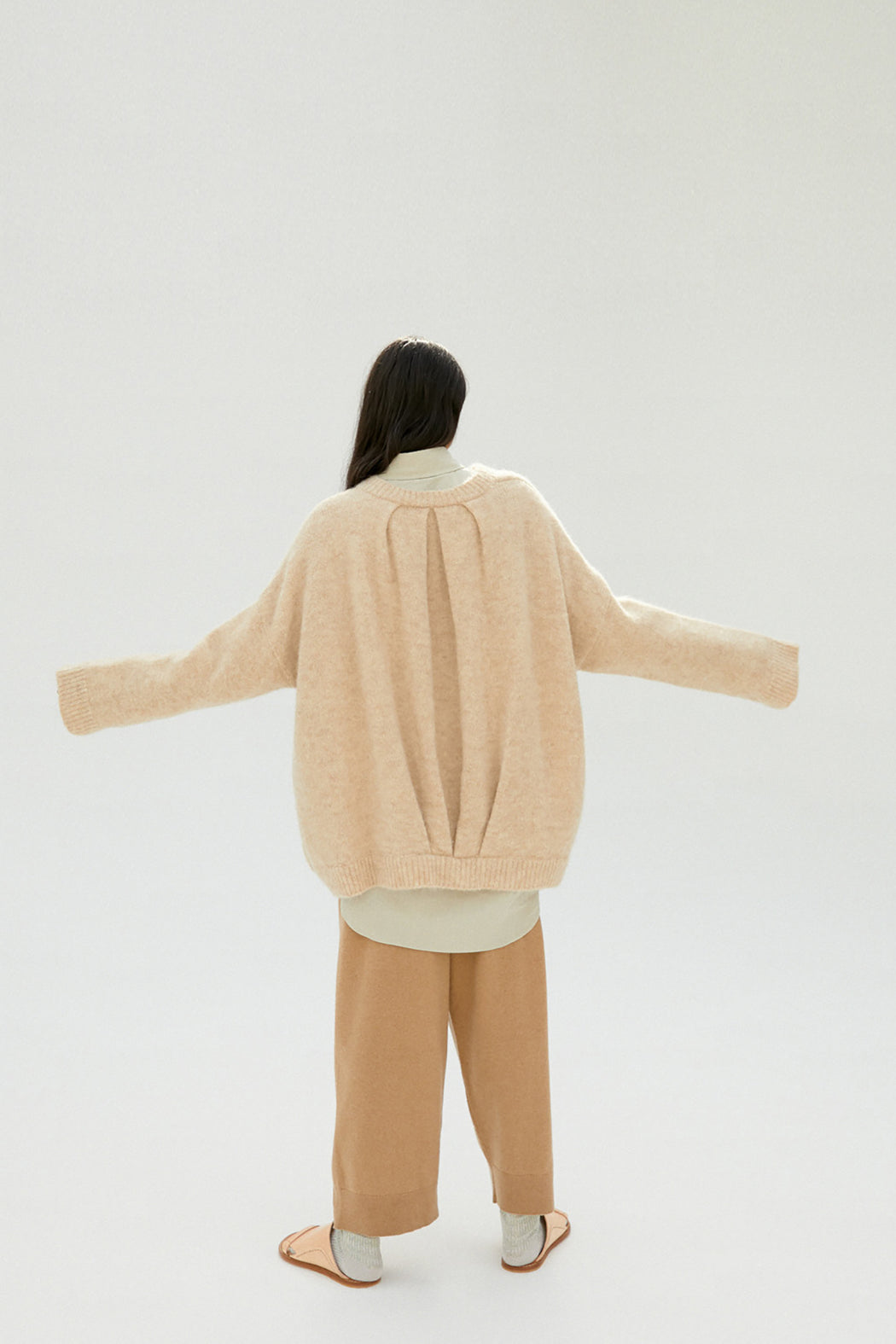 Mónica Cordera | Chunky Soft Alpaca Bomber | Beige | Hazel & Rose | Minneapolis