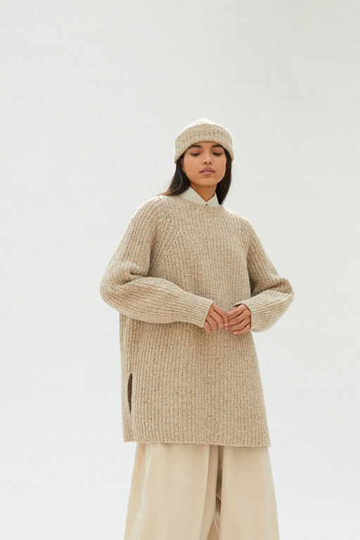 Mónica Cordera | Chunky Soft Wool Sweater | Taupe | Hazel & Rose | Minneapolis