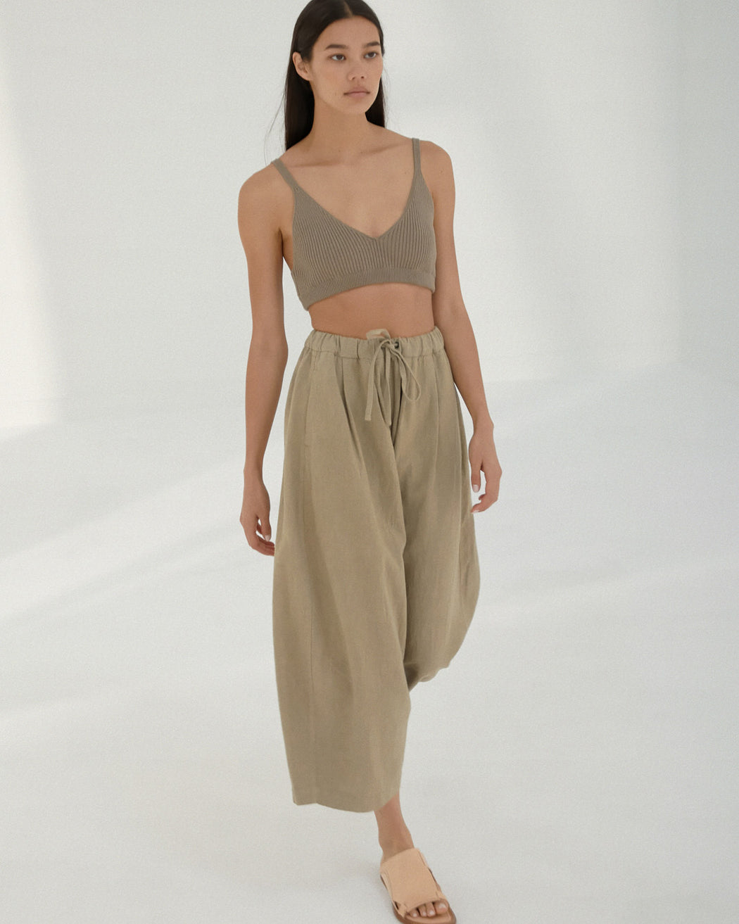 Mónica Cordera | RIBBED KNIT TOP | TAUPE | Hazel & Rose | Minneapolis