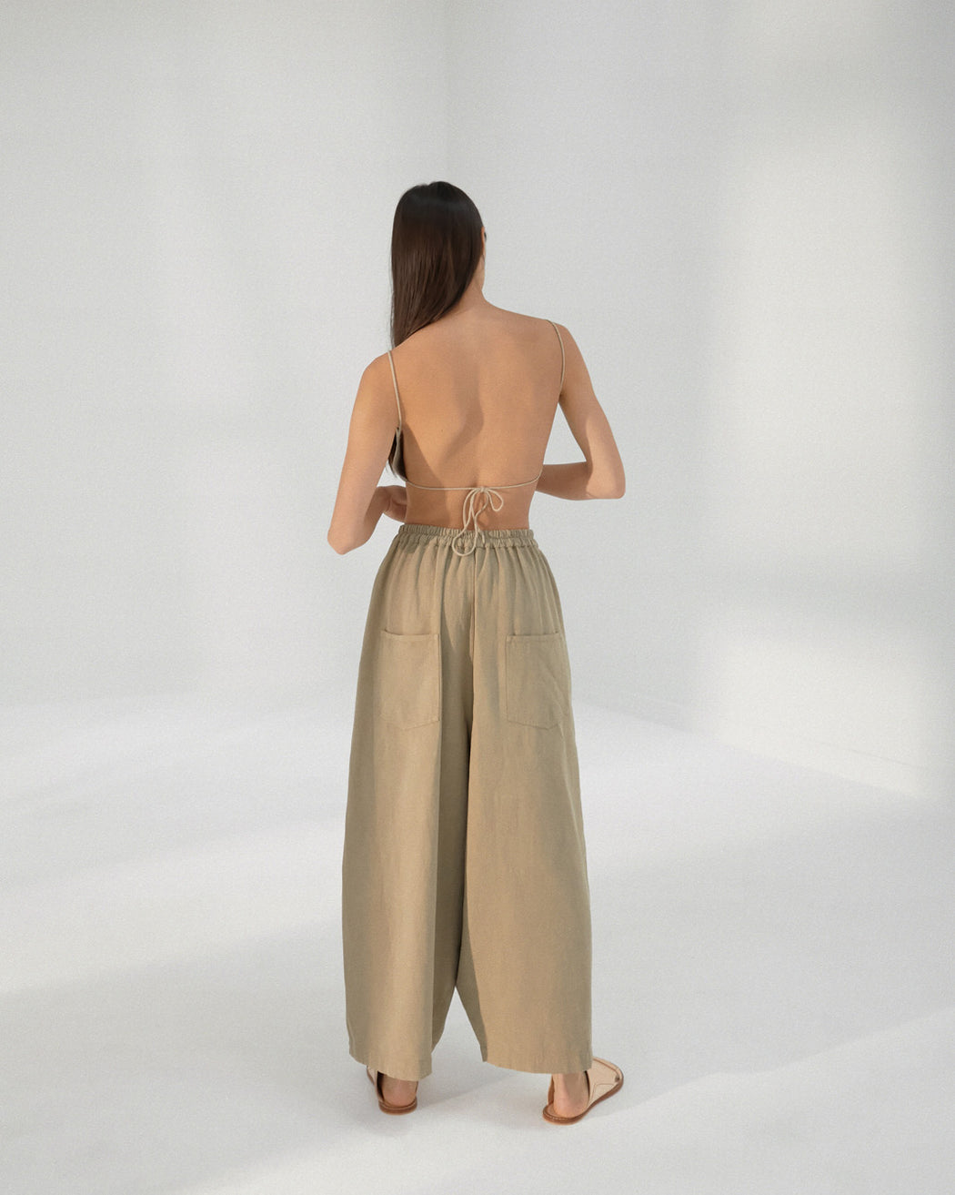 Mónica Cordera | PLEAT FRONT PANTS | SMOKED GREEN | Hazel & Rose | Minneapolis