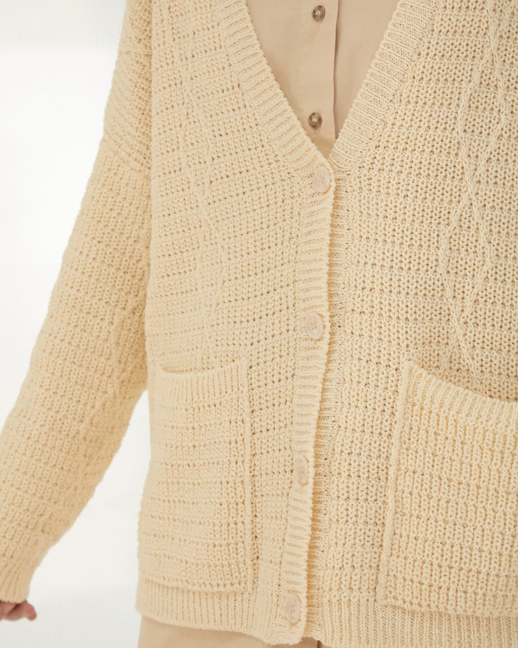 Mónica Cordera | CABLE CARDIGAN | CHAMOMILE | Hazel & Rose | Minneapolis