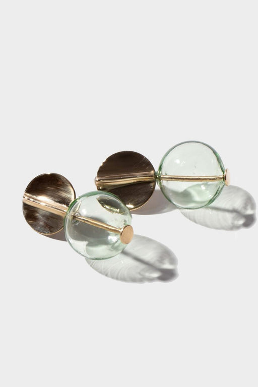 GLOBE EARRINGS | TRANSPARENT MINT