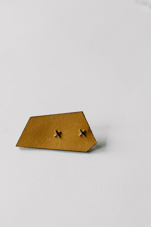 Small X Studs // 14k Rose Gold