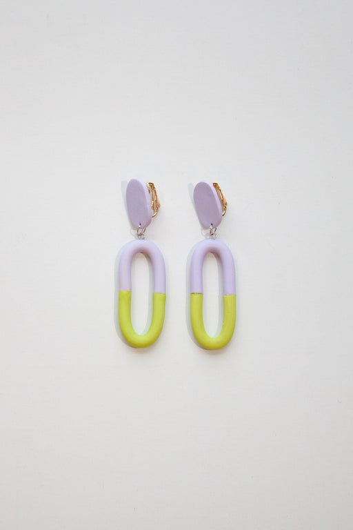 THE DAPHNE CLIP~ON | LAVENDER & CHARTREUSE