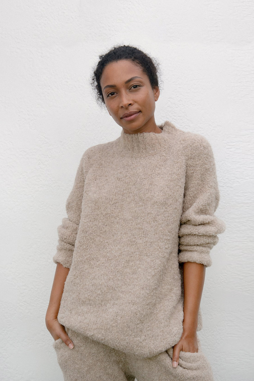 Wol Hide | LOUNGE PULLOVER | SAND | Hazel & Rose | Minneapolis