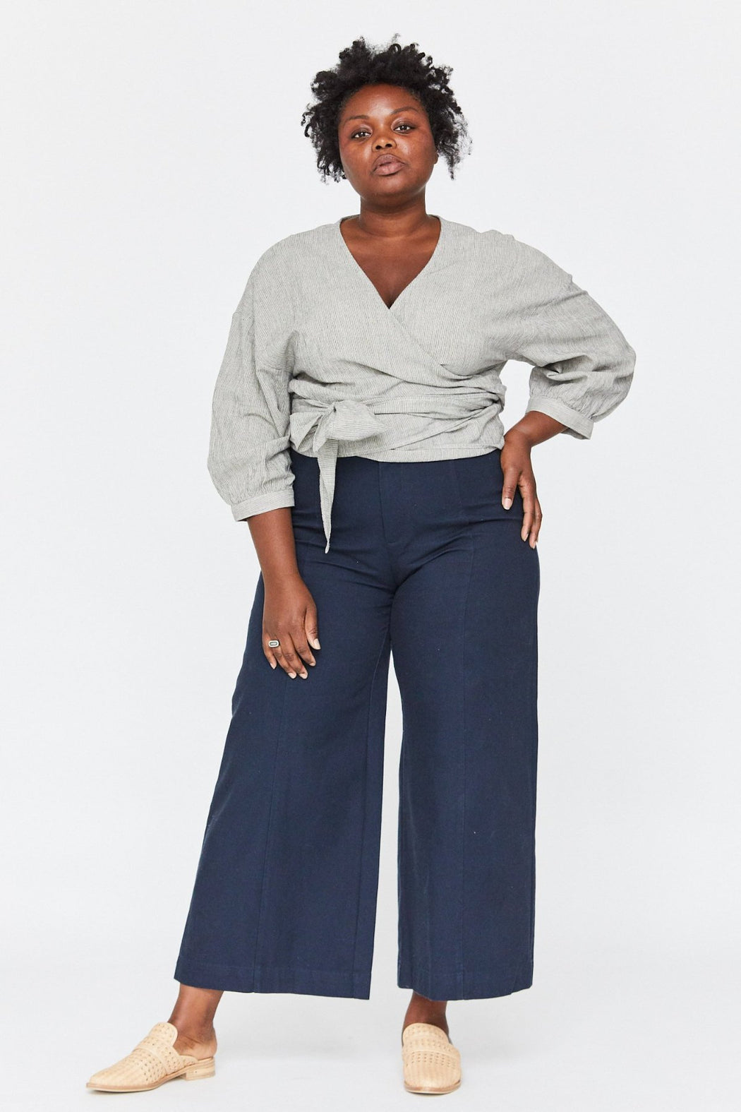Esby Apparel Plus Size Ethical Fashion | Plus Size Colette Wrap Top