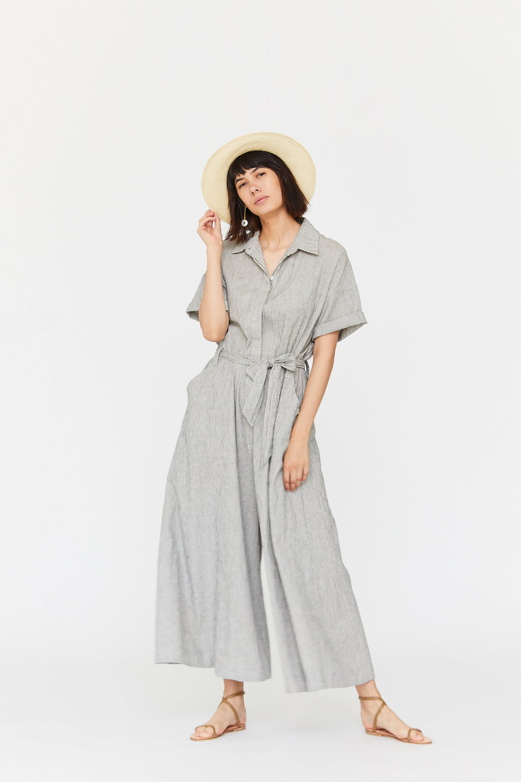 Esby Apparel | savanah jumpsuit // cocktail stripe | Hazel & Rose