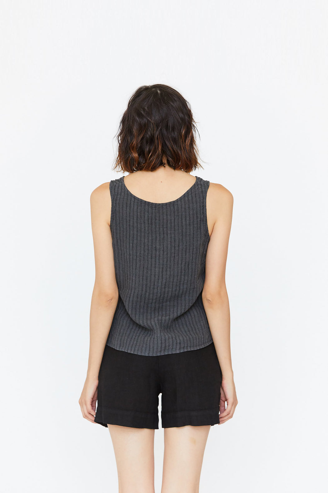 Esby Apparel | Lola Reversible Tank // Charcoal Stripe | Hazel & Rose