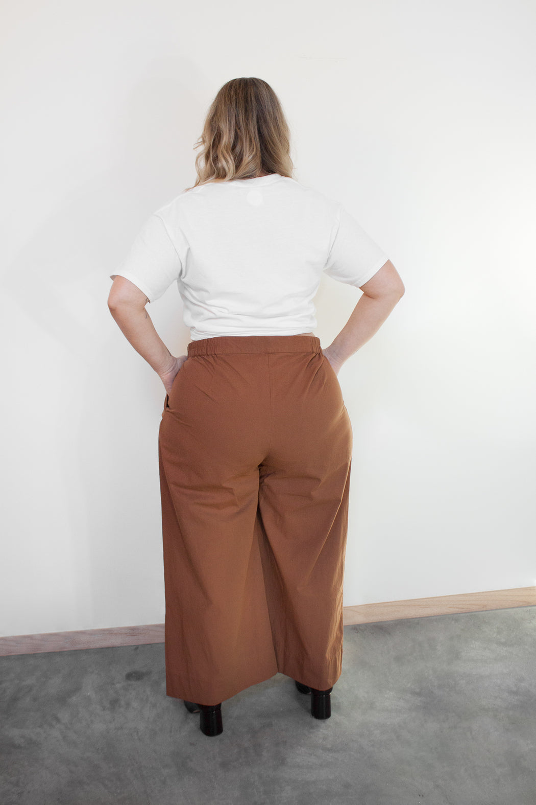 Wray Fair Trade Fashion | Plus Size Eli Pant Cognac | Hazel & Rose