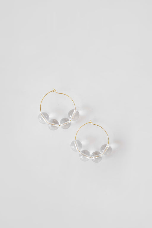 Sea + Pattern | Quartz Hoop Earrings | Hazel & Rose | Minneapolis