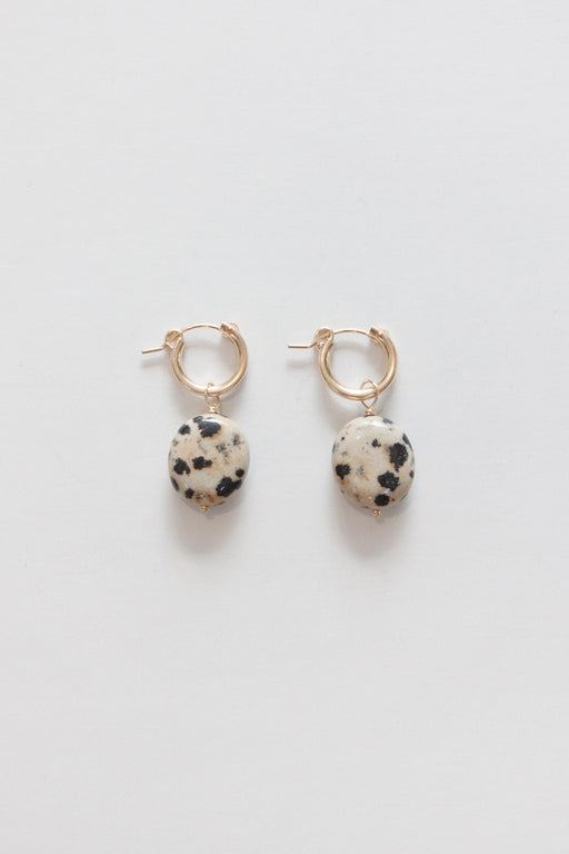 Golden Rule | Dalmatian Jasper Earring | Hazel & Rose | Minneapolis