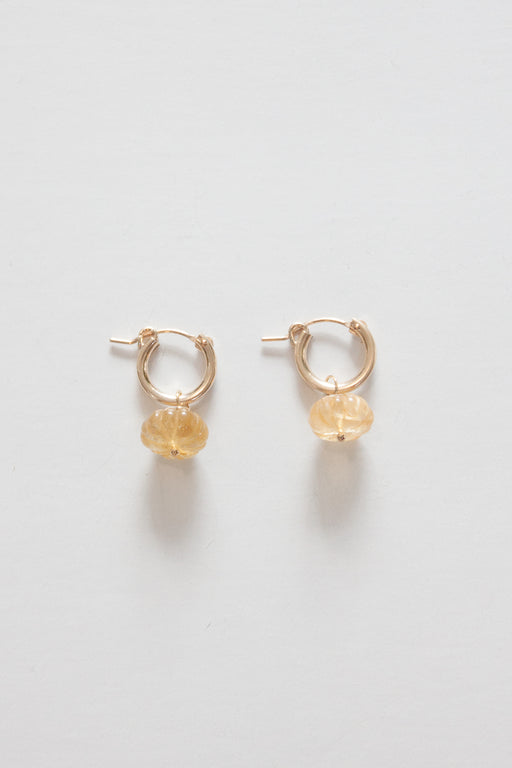 Carved Citrine Earring | November