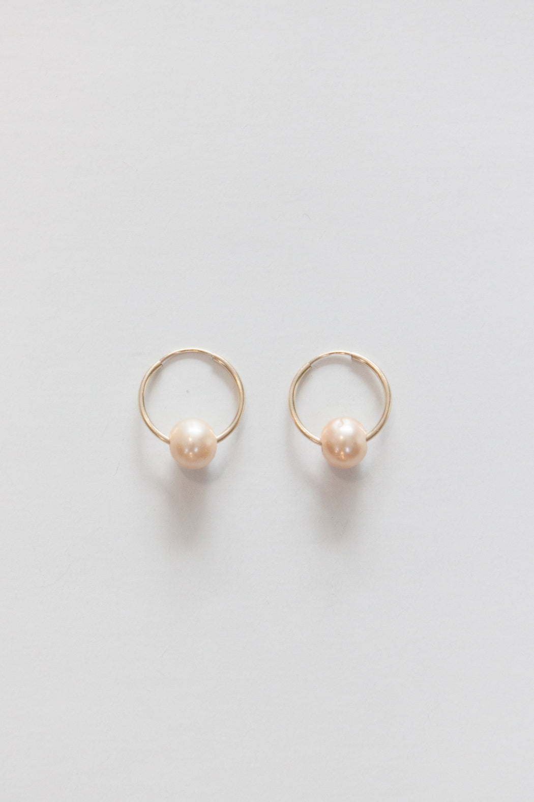 Golden Rule | Fresh Water Pearl Hoop Earring | Champagne | Hazel & Rose | Minneapolis