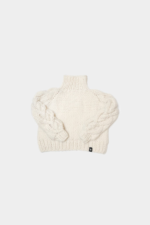 Nickichicki | Heart Meet Sleeve Sweater | Winter White | Hazel & Rose
