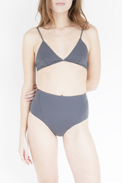 Esby Apparel Swim | Linda High-Waist Bottom // Slate | Hazel & Rose