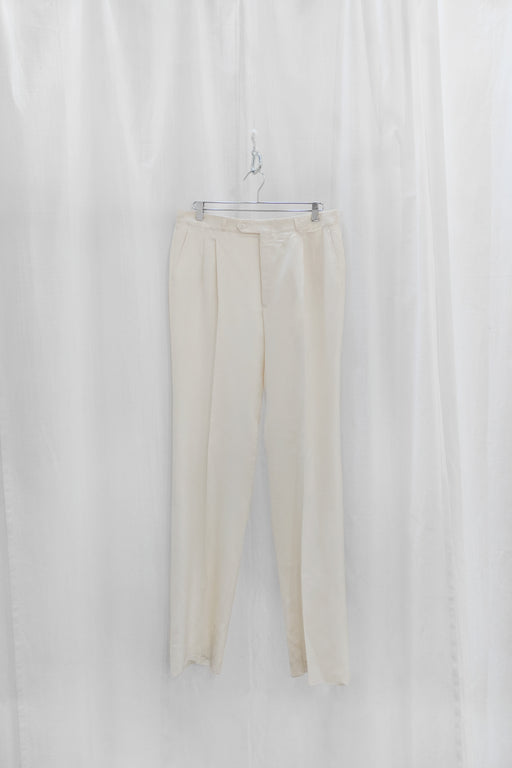 Vintage 1980's Yves Saint Laurent Ivory Trousers