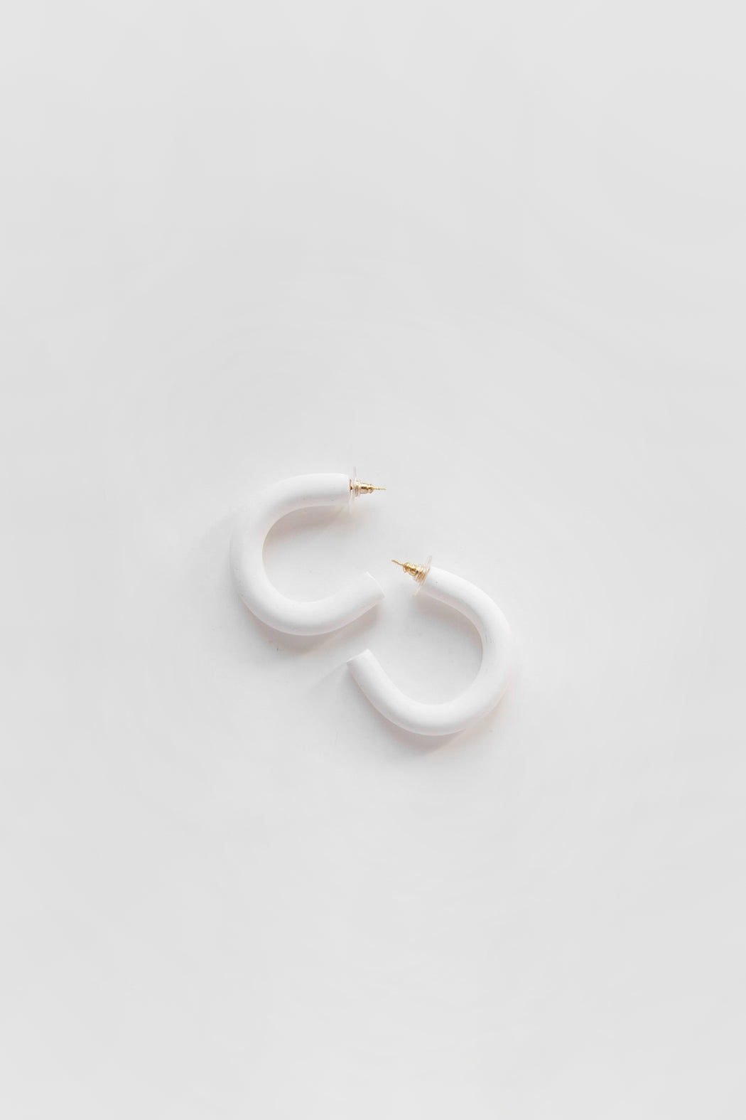 Sea + Pattern | Mini Circlet Earrings | White | Hazel & Rose | Minneapolis