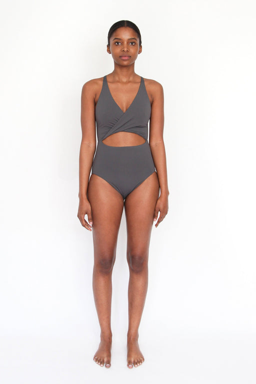 Esby Swim | Maria Cut Out One-Piece Slate | Hazel & Rose