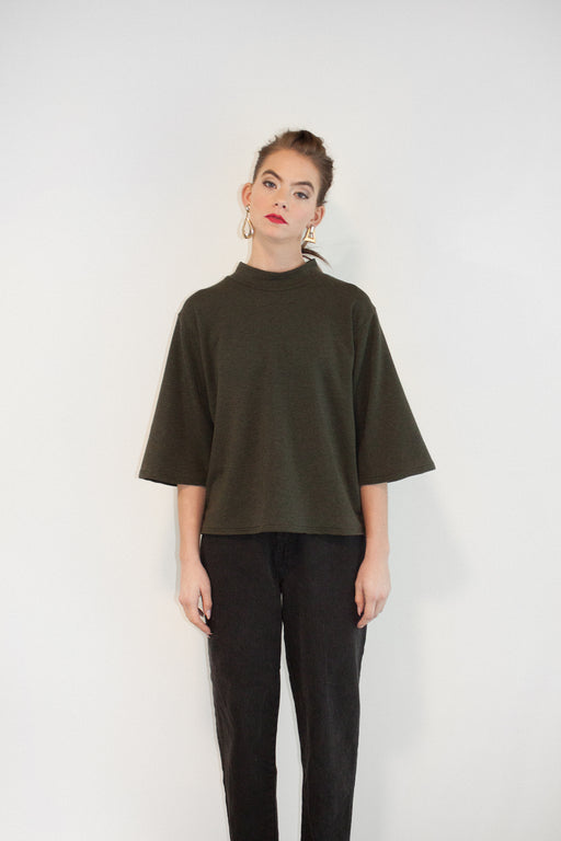Joeleen Torvick | Boxy Top | Forest | Hazel & Rose | Minneapolis