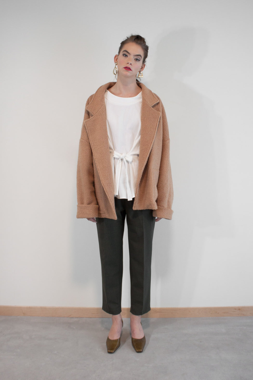 Joeleen Torvick | Open Textural Jacket | Camel | Hazel & Rose | Minneapolis