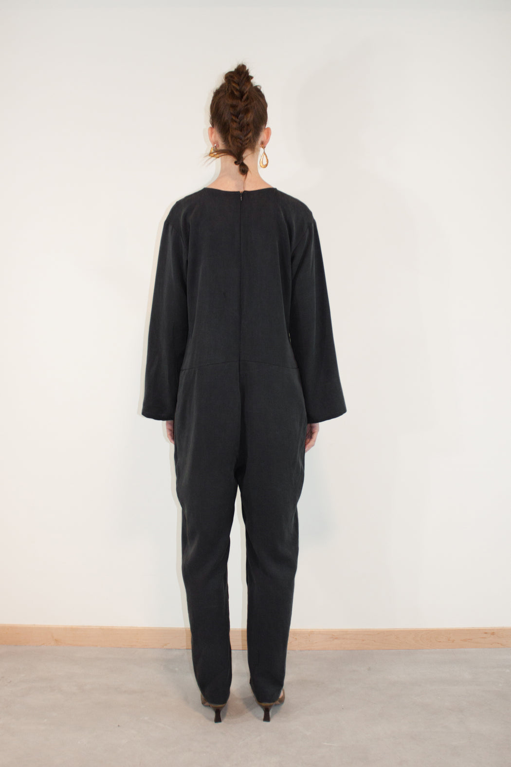 Joeleen Torvick | Easy Jumpsuit | Black | Hazel & Rose | Minneapolis