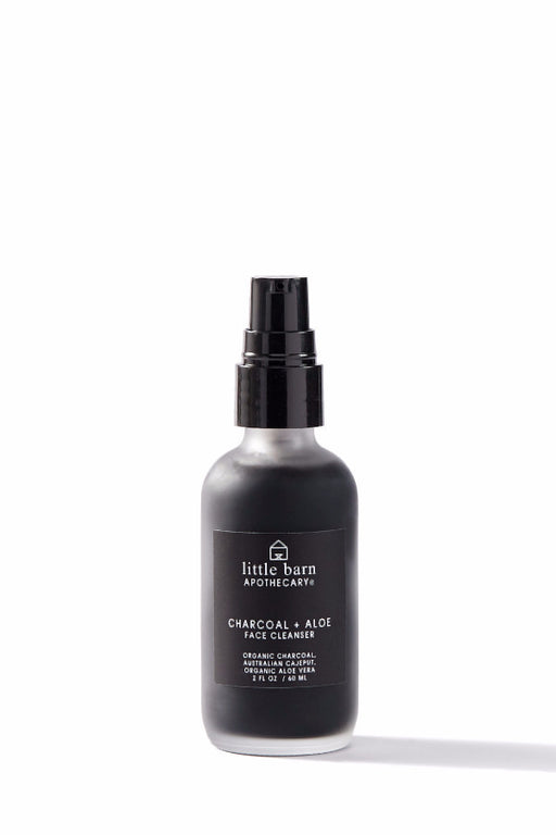 Little Barn Apothecary Skincare | Charcoal + Aloe Foaming Face Cleanser | Hazel & Rose