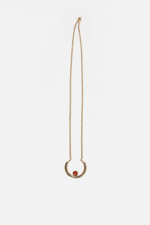 Artifacts NYC | Brass Stacked Arc Necklace | Red Jasper | Hazel & Rose | Minneapolis