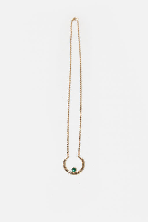 Artifacts NYC | Brass Stacked Arc Necklace | Malachite | Hazel & Rose | Minneapolis