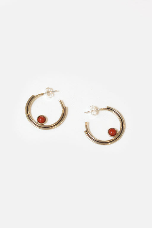 Artifacts NYC | Brass Arc Hoops | Red Jasper | Hazel & Rose | Minneapolis